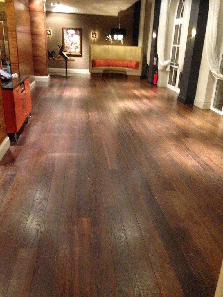 Wooden Floor Polishing Cleaning 2016 Hotel CrawfordsPRC - 1
