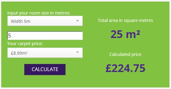 Carpets Rugs Cleaning company weston super mare somerset Price Calculator